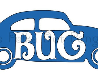 VW Bug Car Decal