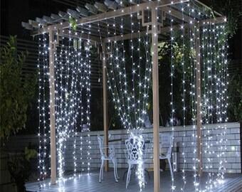3 m x 3 m (Appx. 9.8 ft x 9.8 ft) Drape Curtain String Light
