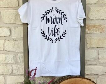 White Mom Life T-Shirt