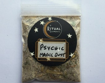 PSYCHIC Magic Dust- Dress candles, charm bags, etc for your tarot and divination rituals wicca spells spirit manifestation meditation pagan