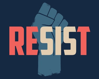 "Printable, digital  18x24 Women's March poster ""RESIST"""