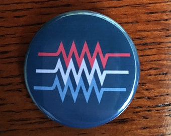 "March for Science Patriot Resistor 1.75"" pinback button"