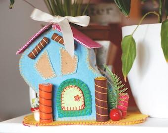 Felt Playhouse-children-Box fabric jewelry boxes-trays-Organizer-Toys storage