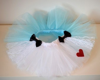 Alice in Wonderland Tutu, birthday tutu, kids dress up / costume, baby gift, custom girls tutu