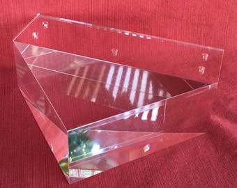 """Solid Acrylic Lucite Furniture Leg for Sofa, Cabinet, ET Center, 2""""H, Triangle, 4PC, Modern, Stylish, Affordable"""