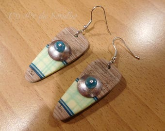 "Earrings ""Nature"", polymer clay."