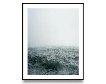 Ocean Print, Wall Art Poster Print with Instant Printable Digital Download