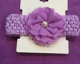 New!! Girls Baby/Toddler Headband. Lavender. Hair Accessory. Free Shipping!!