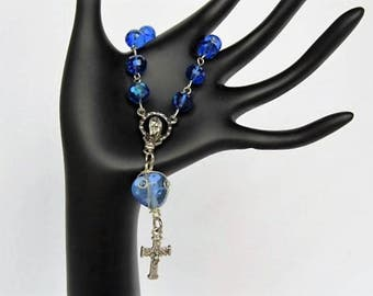 Blue Single Decade Rosary
