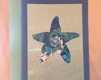 Starfish Iris Folded Card