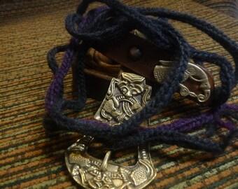Trollen braid. Hand made. Reenactment, SCA, LARP.