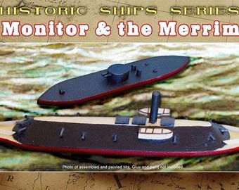 Monitor and Merrimack Battle of the Ironclads Wooden Boat Craft Kit