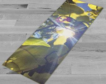 Sun Through the Canopy - Yoga Mat, Pilates Mat