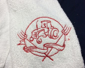 Embroidery tractor towel