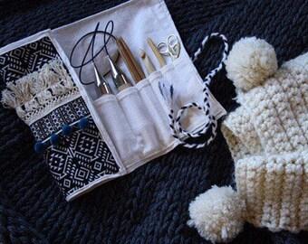 Moroccan Knitting Case/ Brush Bag