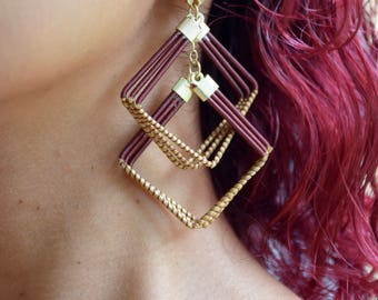 Double diamond golden grass dangle
