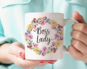 Boss Lady Mug, Boss Quote Mug, Funny Gift For Her