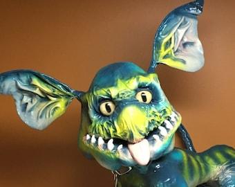 Paper mache sculpture (Little Beast) OOAK