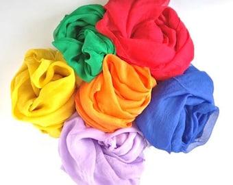 Rainbow Soft Fabrics Silk Waldorf