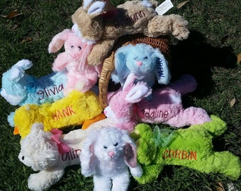 easter plush bunnies personalized