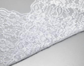 4.50 metre lace Ribbon, lace, elastic, white, Ribbon, Sptizenborde, 19045