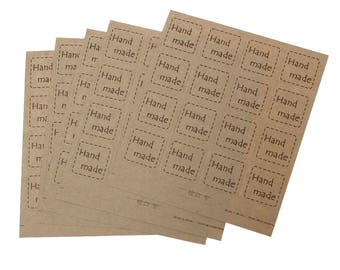 160 labels, adhesive labels, hand made, hand made, hang power stickers * 71524