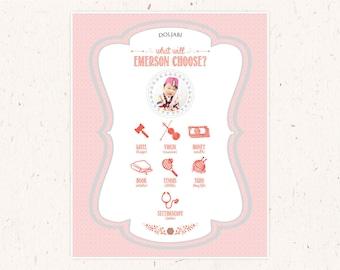 "Doljabi Board, ""Cute as a button"" Doljanchi, Cute as a Button Dol, Dohl, Doljabi, First Birthday Game, 20x30 custom designed doljabi poster"