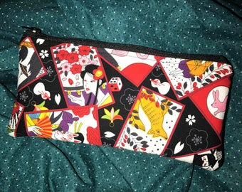 Hanafuda Pencil Case / Accessory Case