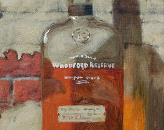 "Original oil painting ""Woodford"" 10x8 oil on linen"