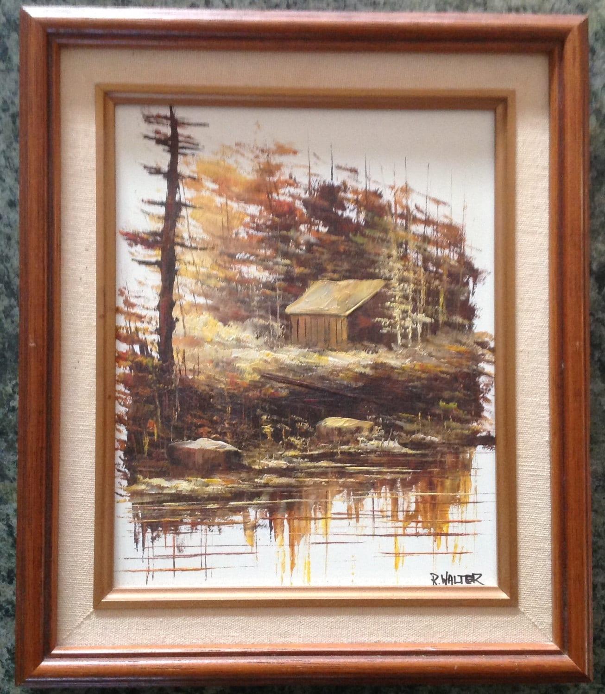 Oil Painting R Walter Canadian Impressionist Artist Vintage
