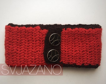 "Knitted red collar ""Red Apple""/collar/wind protection"