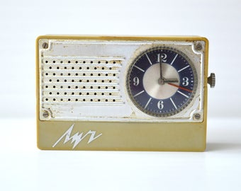 "Pocket watch Luch RAY Vintage Soviet alarm clock Luch ""RAY""  alarm clock Soviet pocket watch Retro clock Pocket watch with alarm clock USSR"