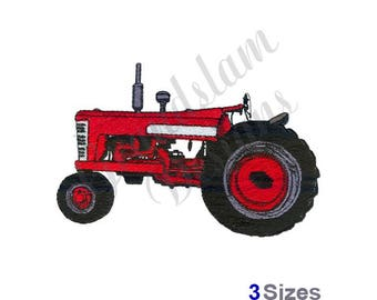 Classic Tractor - Machine Embroidery Design