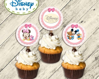 Disney Baby toppers, toppers disdey baby, baby disney toppers, toppers baby disney,Toppers minnie baby,Minnie baby toppers,toppers birthday