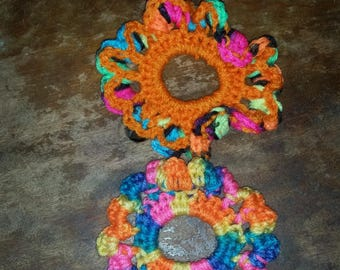 2 Crochet Hair Ties
