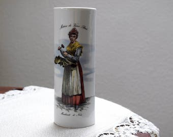 Vintage French Ceramic Wall Pocket Vase,  Vintage Hanging Radiator, Vintage Air Humidifier, Vintage French Pottery, Metiers du Vieux Par