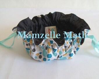 Round blue coin purse