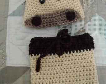 Giraffe diaper set