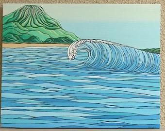 Perfect Wave at Mount Maunganui Beach