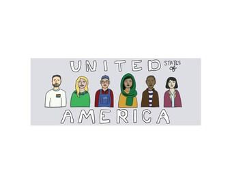 America is Diverse Bumper Sticker