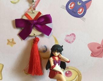 Sailor Scout Key Chain / Bag Tag - Sailor Mars