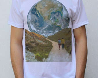 The Earth Path T shirt, Space Collages