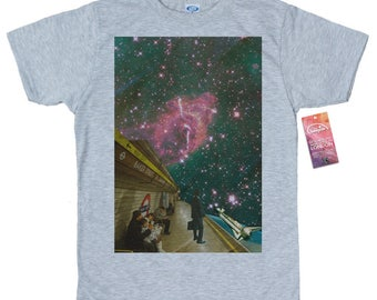 Space Station T shirt, Space Collages