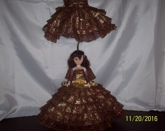 Hand made custom Southern Bell Doll Lamp