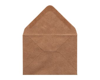 C7 Ribbed Kraft Envelope Sets - Vintage Style - Rustic Envelope - Great for Wedding Invitations, Save the Date Cards - Buy from 5 Envelopes
