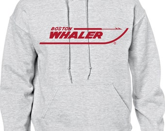 Vintage Boston Whaler Hooded Sweat shirt  FREE SHIPPING