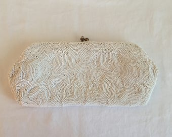Handbags by Josef/Vintage 1930's-1950's Beaded Clutch/Clutch Bride/Vintage Collectable/Mother of the Bride/Hand Beaded!!