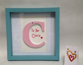 Personalised name art in a box frame