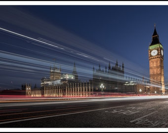 Houses of Parliament Light Trails