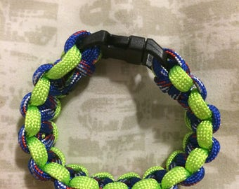 Child's size Green and Blue Survival Bracelet